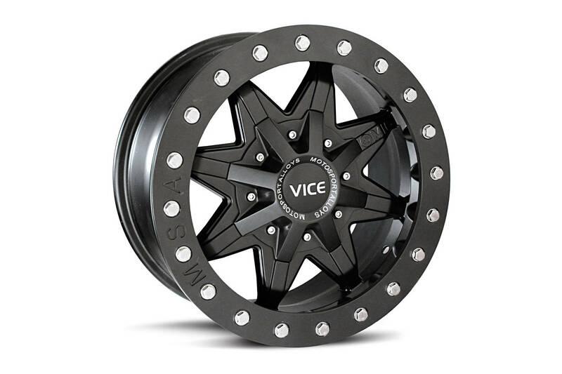 Jante MSA WHEELS M16 Vice Utility - noir 14x7