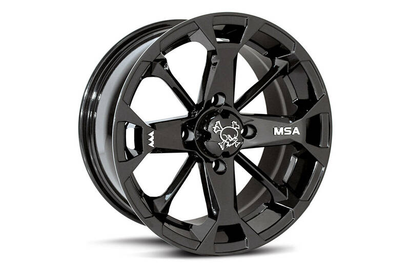 Jante utilitaire MSA WHEELS M17 Elixir aluminium noir 12x7 4x137 4+3
