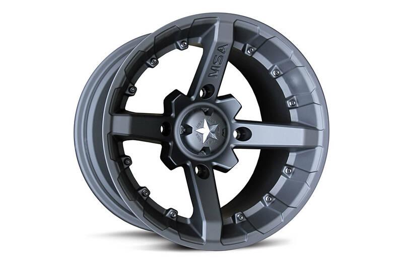 Jante MSA WHEELS M23 Flat Black Utility - noir 14X7