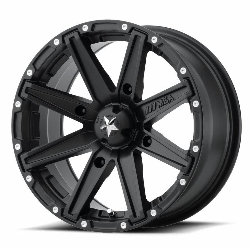 Jante MSA WHEELS M33 Clutch Utility - noir 15x7