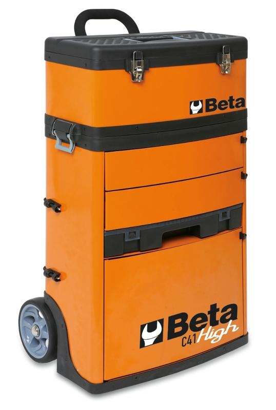 Chariot porte-outils à deux modules superposables BETA RAL2011 orange