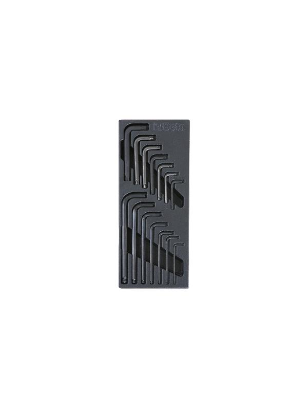 Plateau thermoformé rigide BETA avec clés 6 pans et clés Torx®