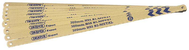 Lames de rechange bi-métal DRAPER 10pce x300mm pour scie à métaux