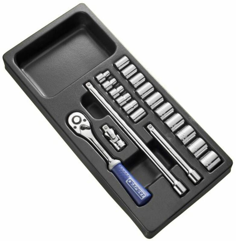 Module d'outils EXPERT douilles et cliquet 3/8'' - plateau plastique