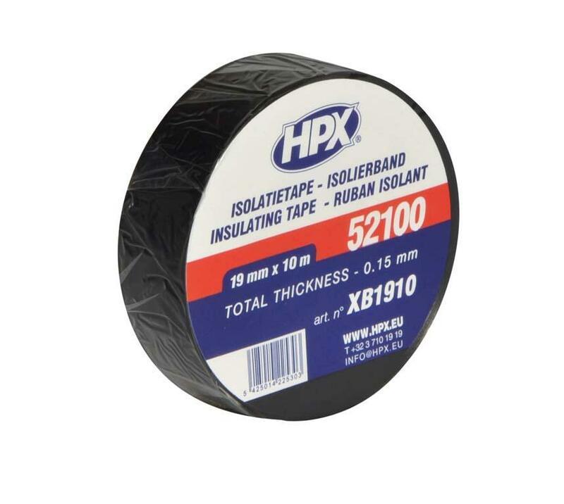 Ruban adhésif isolant HPX noir 19mm x 10m