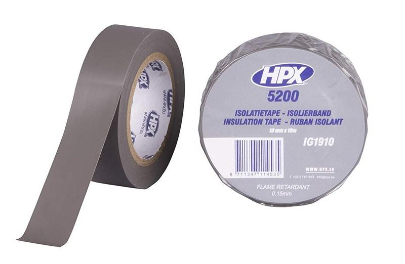 Ruban adhésif isolant HPX gris 19mm x 10m