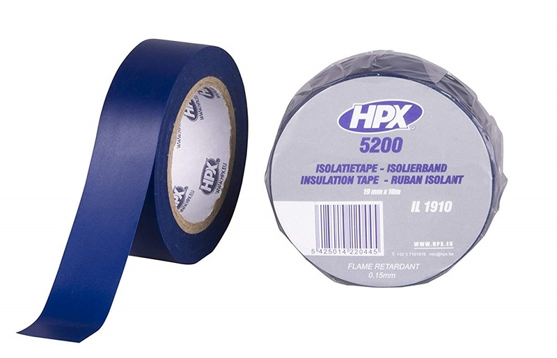 Ruban adhésif isolant HPX bleu 19mm x 10m