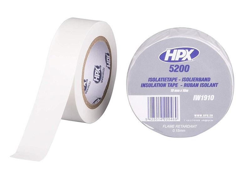 Ruban adhésif isolant HPX blanc 19mm x 10m