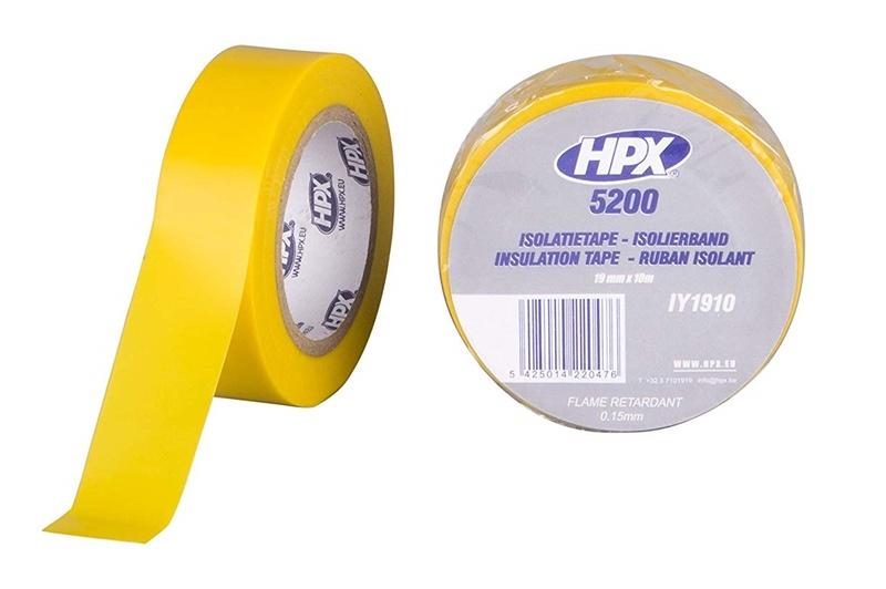 Ruban adhésif isolant HPX jaune 19mm x 10m