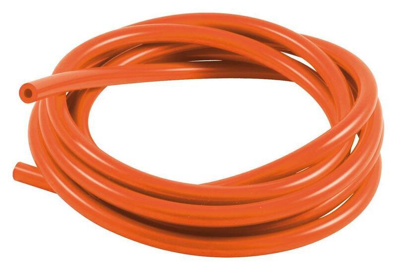 Durite de mise à l'air SAMCO pour carburateur silicone orange 3m - Øint. 5mm/Øext. 10mm