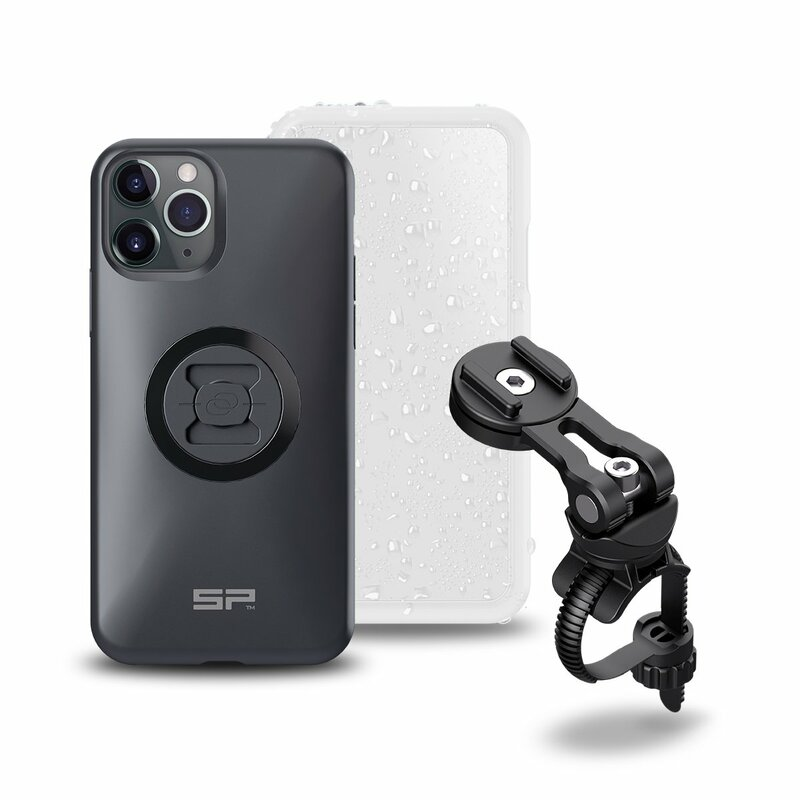 Pack complet SP-CONNECT Bike Bundle II fixé sur guidon et potence iPhone 11 Pro