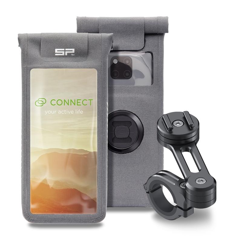 Pack complet SP-CONNECT Moto Bundle fixé sur guidon universel taille L