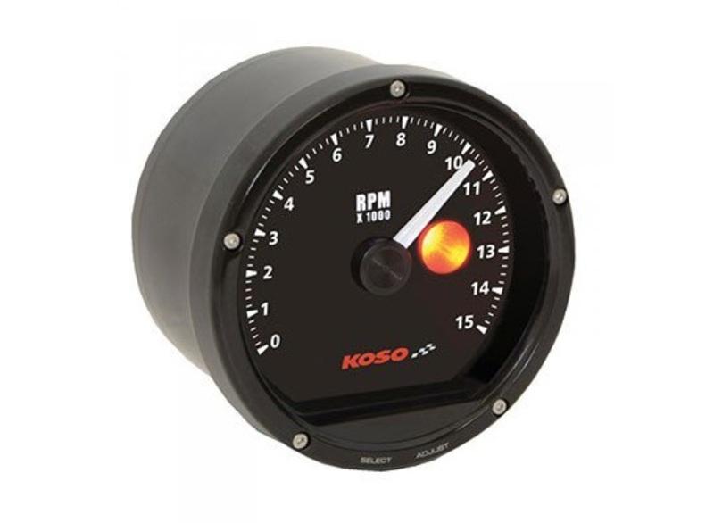Compte-tours KOSO D75 15000 RPM noir