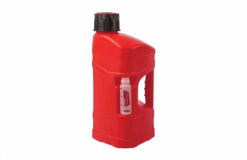 Bidon POLISPORT ProOctane 10L remplissage rapide rouge + melangeur 100ml