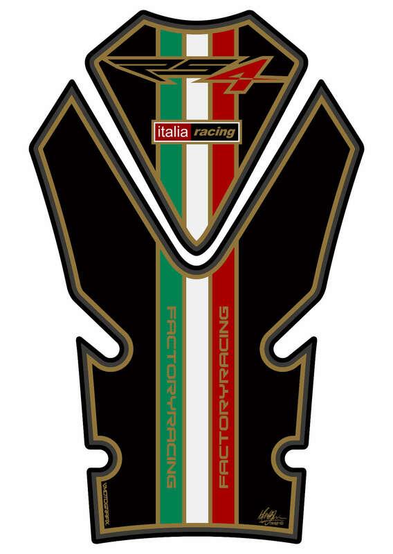 Protection de réservoir MOTOGRAFIX 2pcs noir Aprilia RS4 125