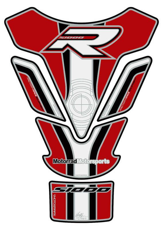 Protection de réservoir MOTOGRAFIX 4pcs blanc/rouge BMW S1000R