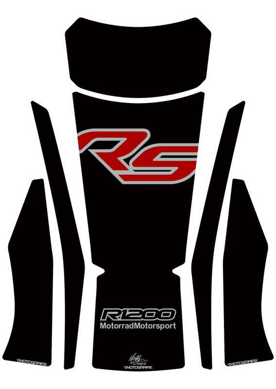 Protection de réservoir MOTOGRAFIX 4pcs noir/rouge BMW R 1200 RS