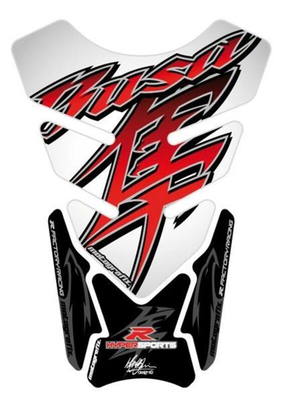 Protection de réservoir MOTOGRAFIX 4pcs blanc/rouge/noir Suzuki