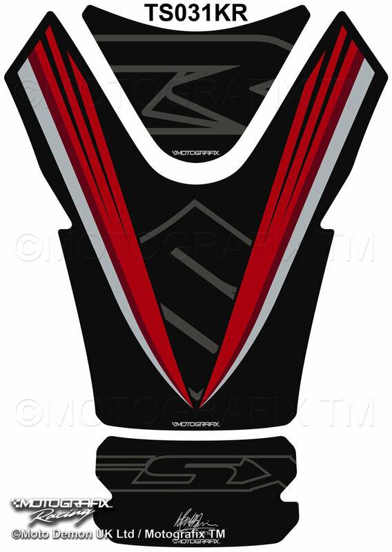 Protection de réservoir MOTOGRAFIX noir/rouge Suzuki GSX-R1000