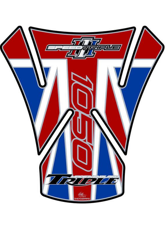 Protection de réservoir MOTOGRAFIX 1pcs Union Jack Triumph Speed Triple 1050/1050 R