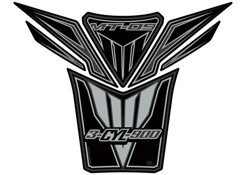 Protection de réservoir MOTOGRAFIX 6pcs noir/argent Yamaha MT-09