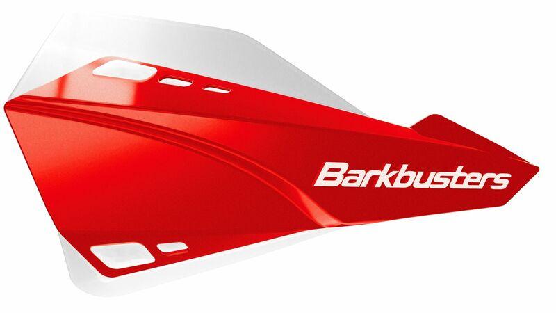 Kit protège-mains BARKBUSTERS Sabre montage universelrouge/déflecteur blanc
