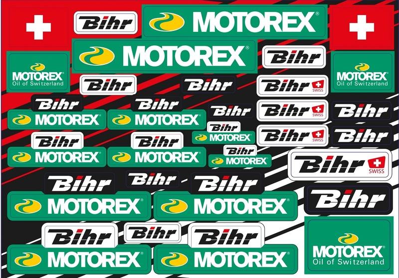 Planche d'autocollants BLACKBIRD Motorex & Bihr