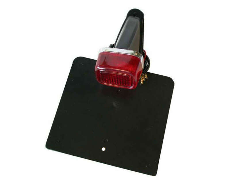 Feu arrière avec support de plaque V PARTS noir type Yamaha TY universel