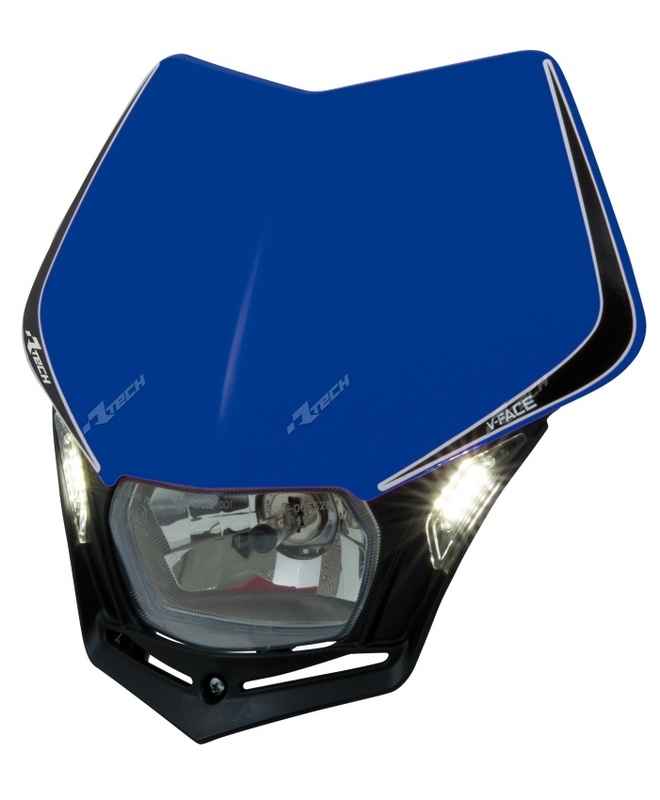 Plaque phare RACETECH V-Face Led bleu