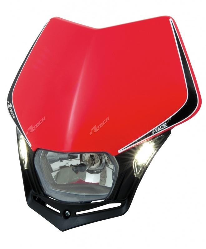 Plaque phare RACETECH V-Face Led rouge