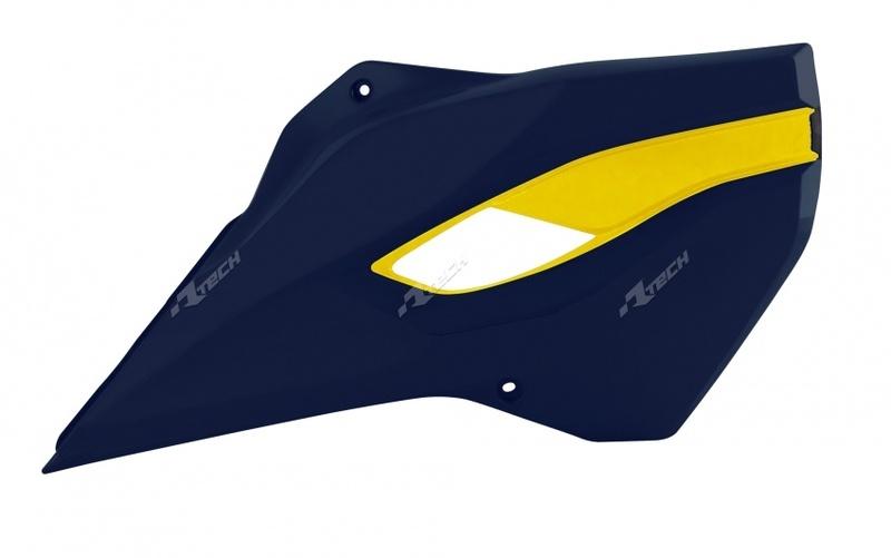 Ouïes de radiateur RACETECH couleur origine bleu/jaune Husqvarna