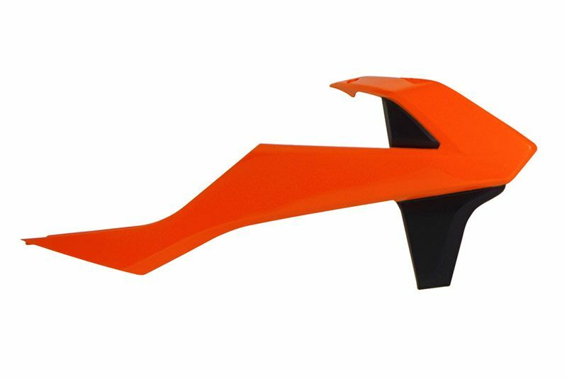 Ouïes de radiateur RACETECH orange/noir KTM SX85
