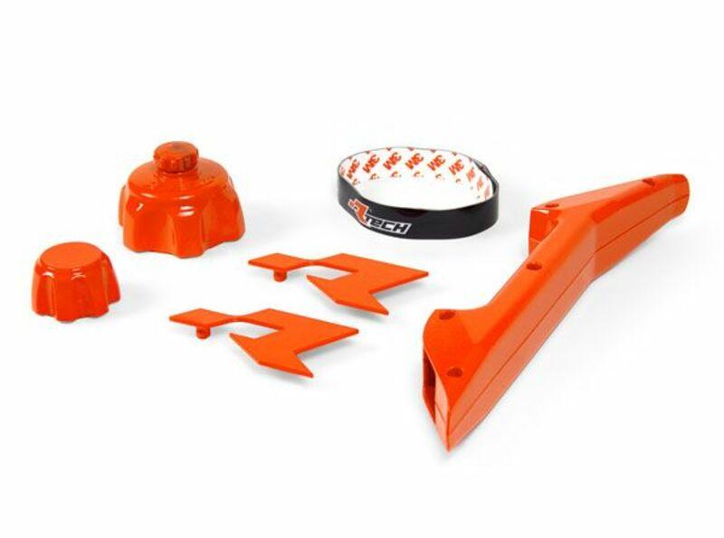 Kit accessoires bidon d'essence RACETECH orange