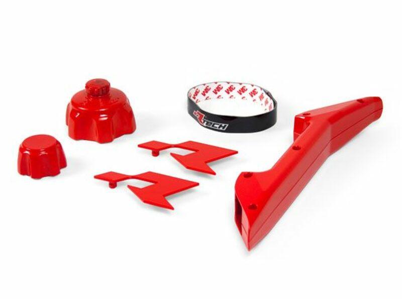 Kit accessoires bidon d'essence RACETECH rouge