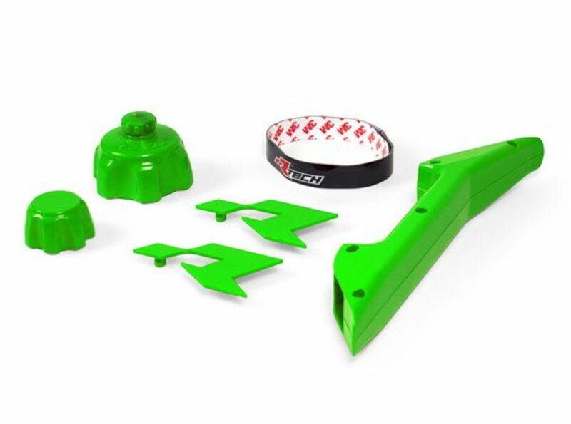 Kit accessoires bidon d'essence RACETECH vert