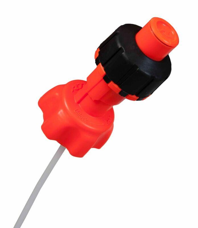 Kit accessoires bidon d'essence RACETECH remplissage rapide orange