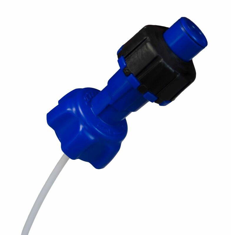 Kit accessoires bidon d'essence RACETECH remplissage rapide bleu
