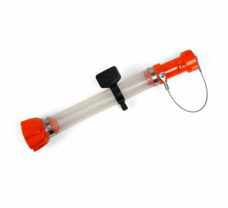 Kit accessoires bidon essence RACETECH remplissage traditionnel orange