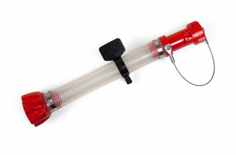 Kit accessoires bidon essence RACETECH remplissage traditionnel rouge