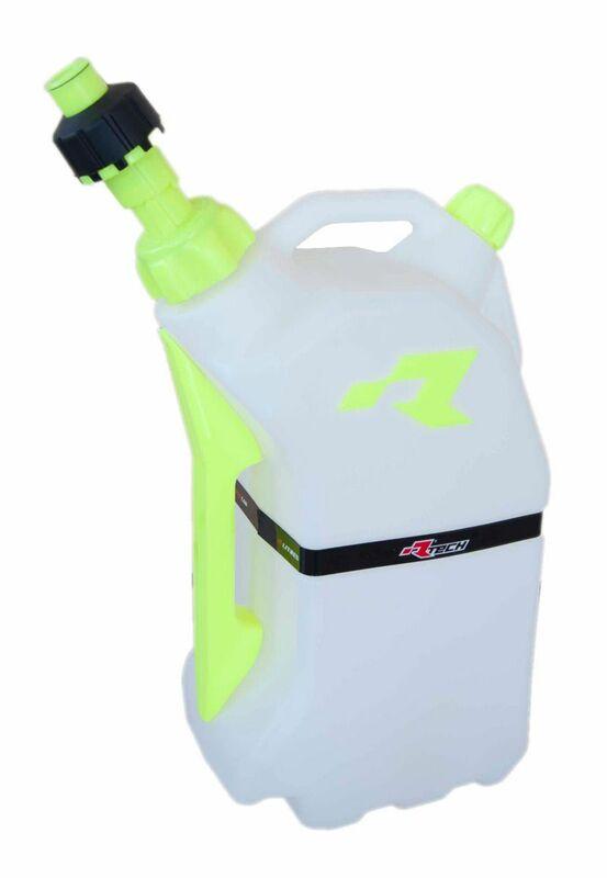 Bidon d'essence RACETECH remplissage rapide 15L translucide/jaune