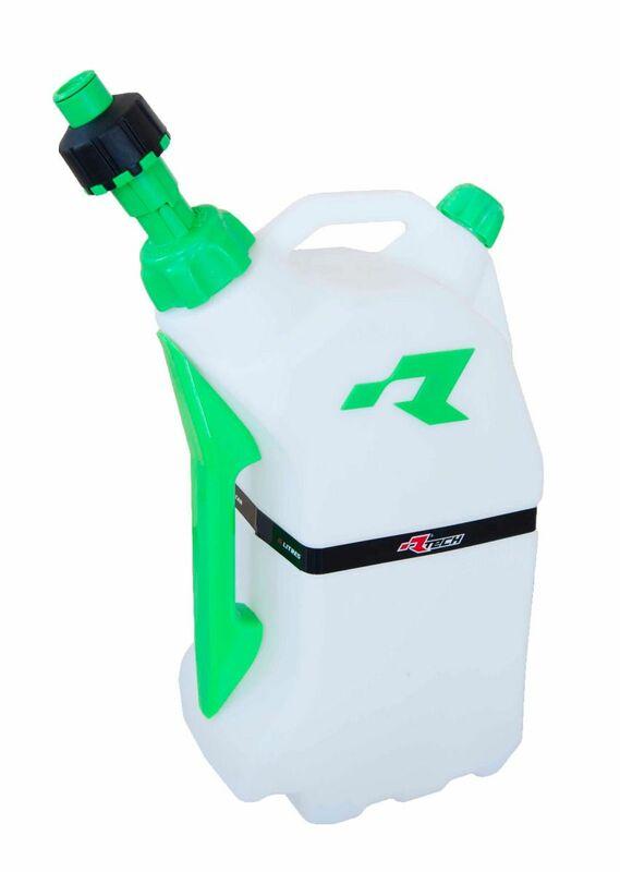Bidon d'essence RACETECH remplissage rapide 15L translucide/vert