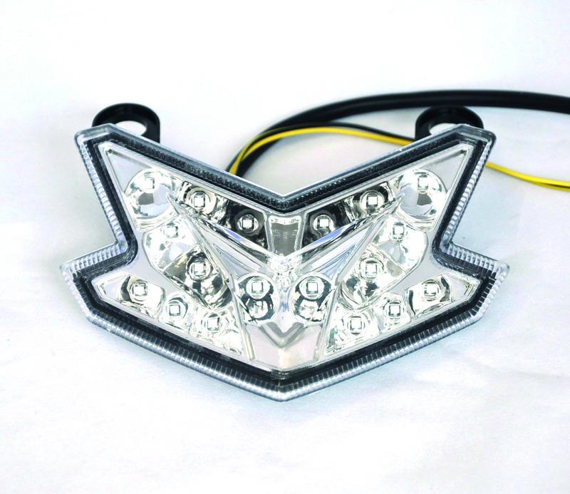 Feu arrière BIHR LED avec clignotants intégrés Kawasaki Z800, ZX636