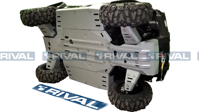 Sabot complet RIVAL - aluminium 4mm CF Moto Uforce 500/800