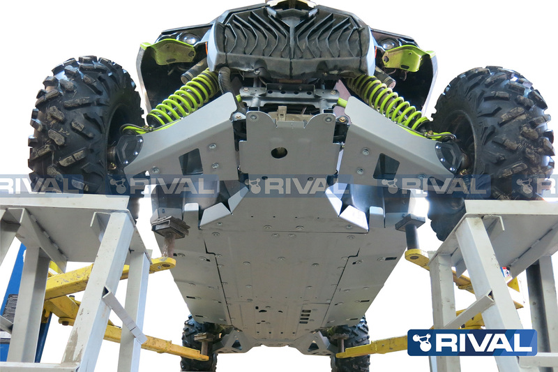 Sabot complet RIVAL - aluminium 4mm Can-Am Maverick