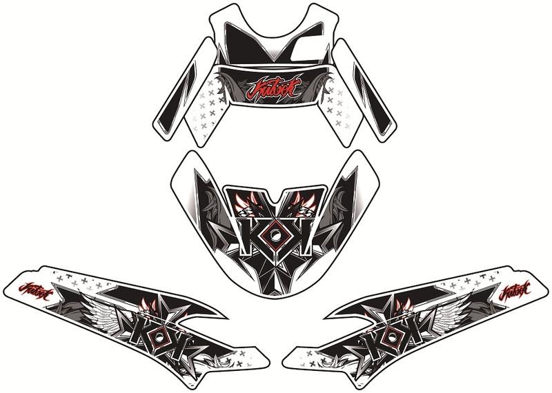 Kit déco KUTVEK Demon rouge MBK Booster/Yamaha BW'S