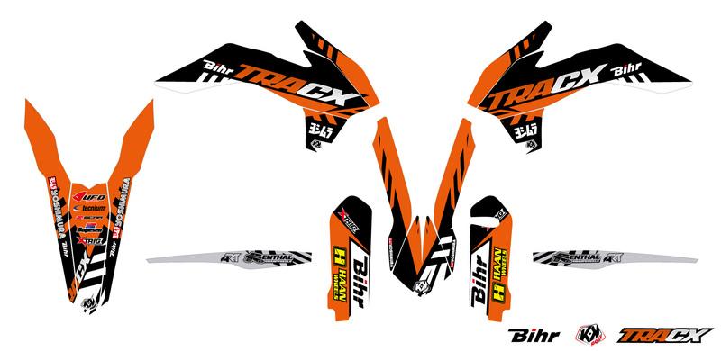 Kit déco KUTVEK Tracx orange KTM EXC/EXC-F