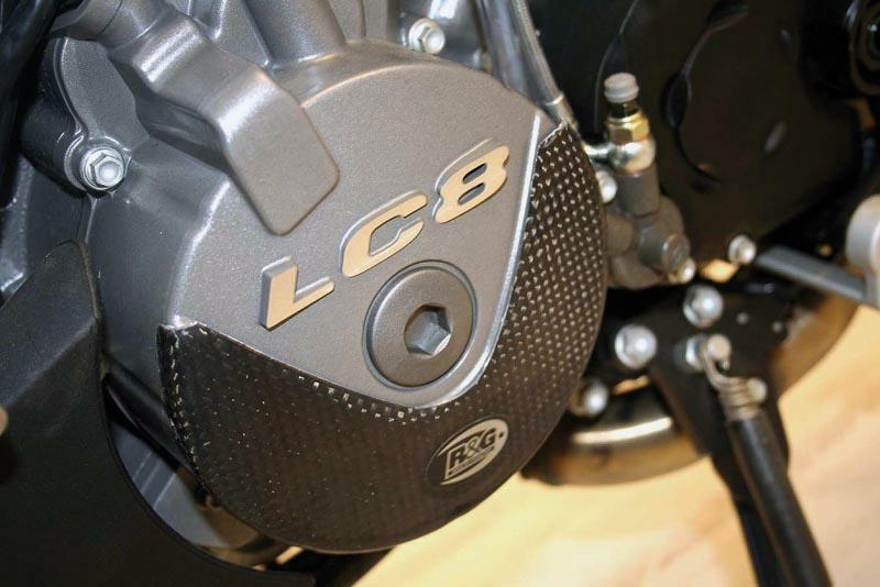 Slider moteur carbone gauche pour KTM LC8 Superduke