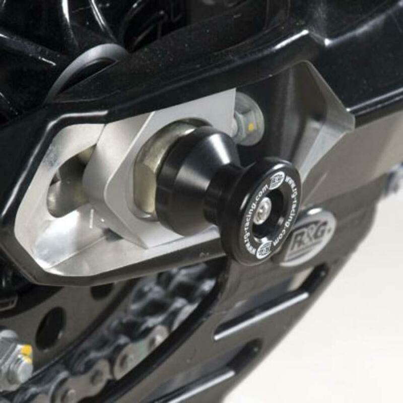 Protection de bras oscillant R&G RACING fixation axe noir Husqvarna Nuda 900