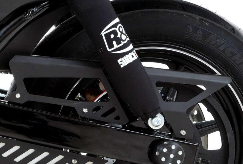 Protection supérieure de courroie R&G RACING noir Harley Davidson Street 750