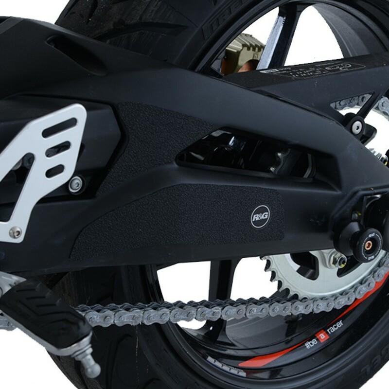 Adhésif anti-frottement R&G RACING cadre/bras oscillant noir 4 pièces Aprilia Shiver 900